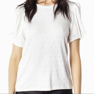 Generation Love Amelia Crystal White Top NEW